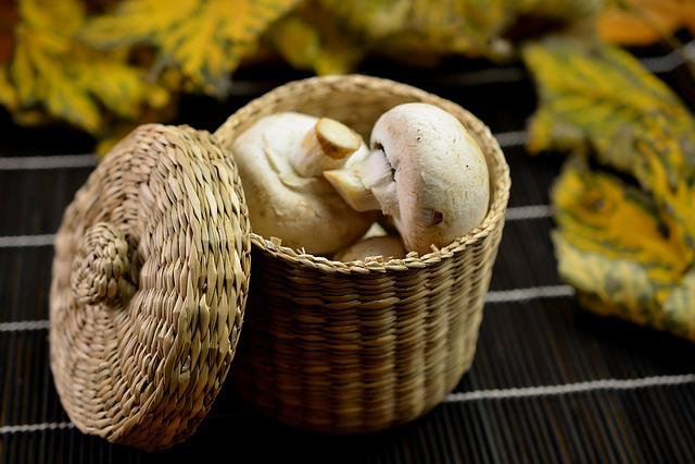 Mushrooms, Food, Dish, Vegetarian, Healthy, Champignon