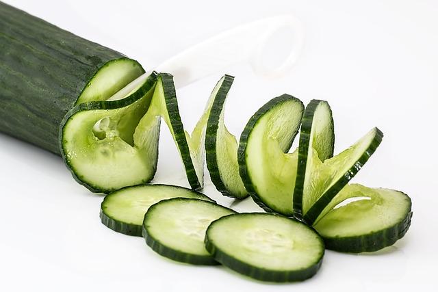 Cucumber, Salad, Food, Healthy, Green, Fresh