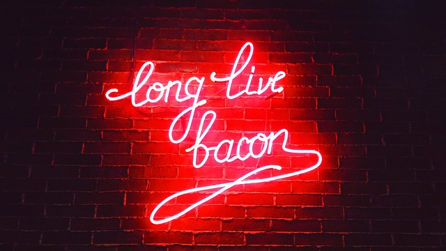 Dark, Night, Light, Store, Restaurant, Bacon, Food, Bar