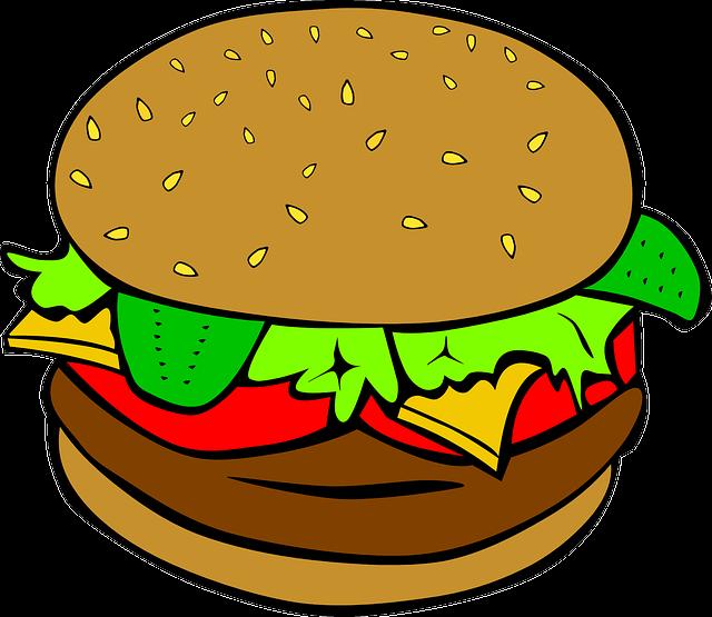 Hamburger, Cheeseburger, Fast Food, Lunch, Food