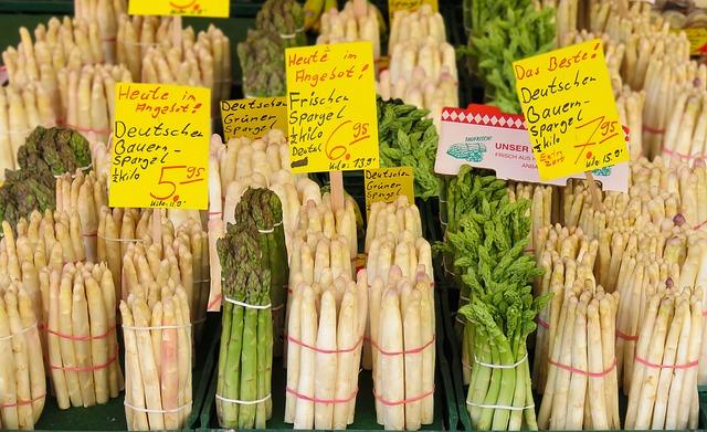 Eat, Food, Asparagus, Market, Vegetables, Healthy