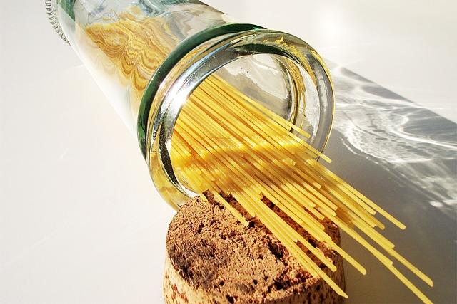Spaghetti, Noodles, Pasta, Glass, Food, Ingredient, Raw