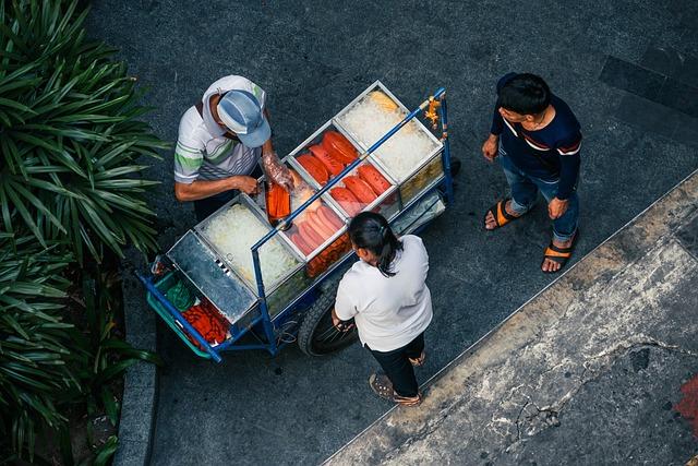 People, Man, Vendor, Food, Customer, Buy