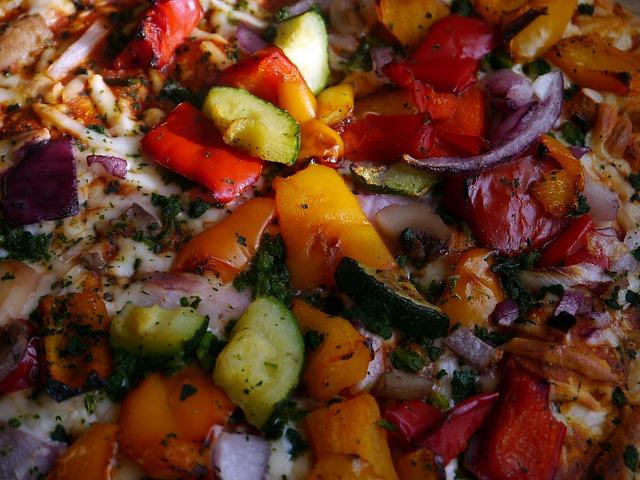 Pizza, Italian, Vegetables, Food, Mix, Salsa, Peppers
