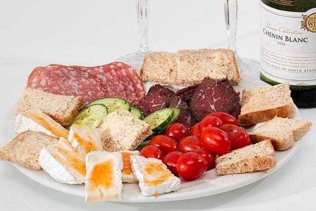 Food Platter, Cheese, Salami, Smoked Beef, Tomato