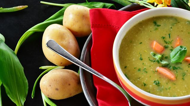 Potato Soup, Potato, Soup, Bear's Garlic, Edible, Food