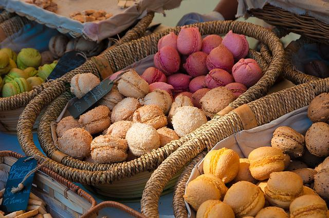Macaroons, Market, Pastry, Dessert, Power, Food