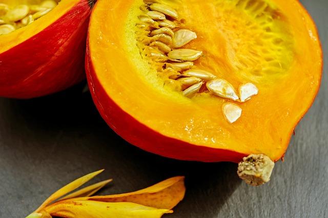 Pumpkin, Hokkaido, Pulp, Pumpkin Seeds, Food
