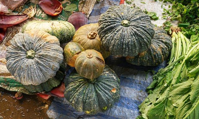Pumpkin, Large, Market, Vegetable, Garden, Food, Fall