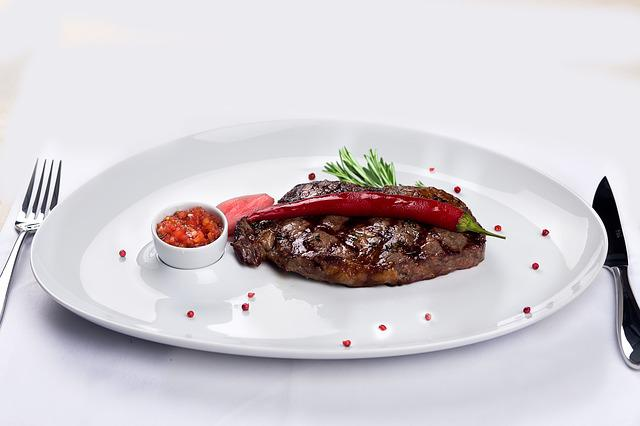 Steak, Restaurant, Food, Dishes, Meat, Grill, Marble