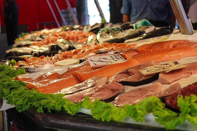 Market, Fish, Fish Market, Food, Fresh, Sea Animals