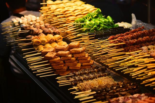 Barbecue, Meat, String, Skewers, Food, Snack