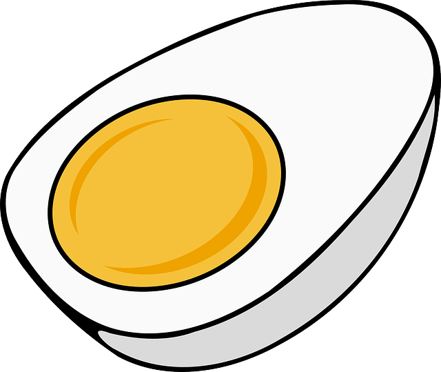 Egg, Hard Boiled, Sliced, Yolk, Half, Cooked, Food