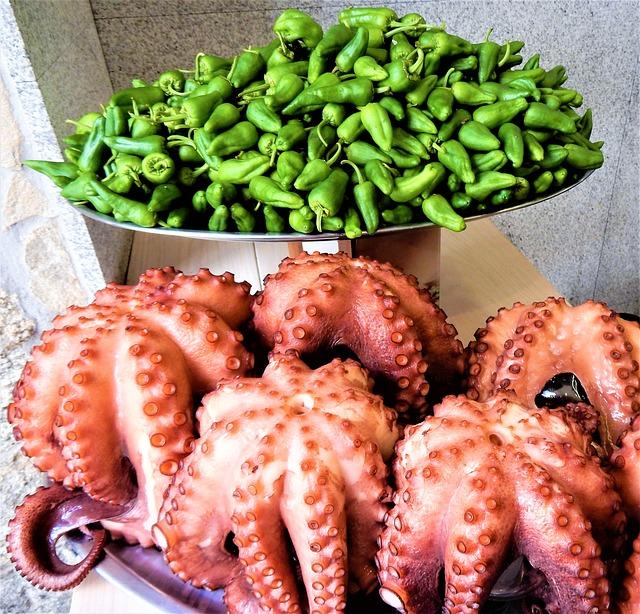 Spain, Food, Octopus, Pulpo, Restaurant, Traditional