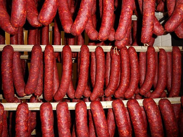 Food, Sausage, Hot, Market, Vegetables