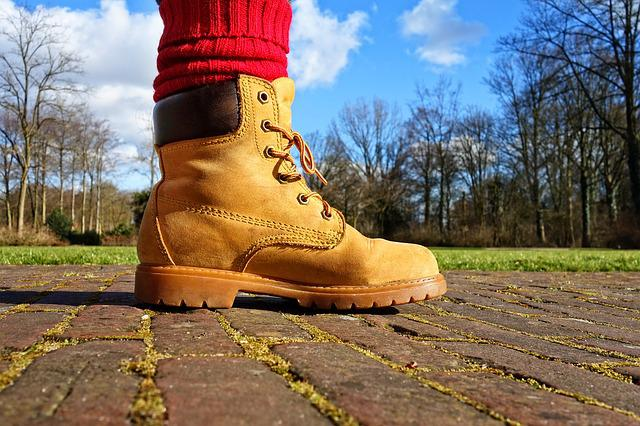 Foot, Leg, Shoe, Hiking Boot, Boot, Grip Sole, Leather
