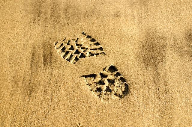 Print, Shoe, Walk, Footprint, Foot, Boot, Human, Sand