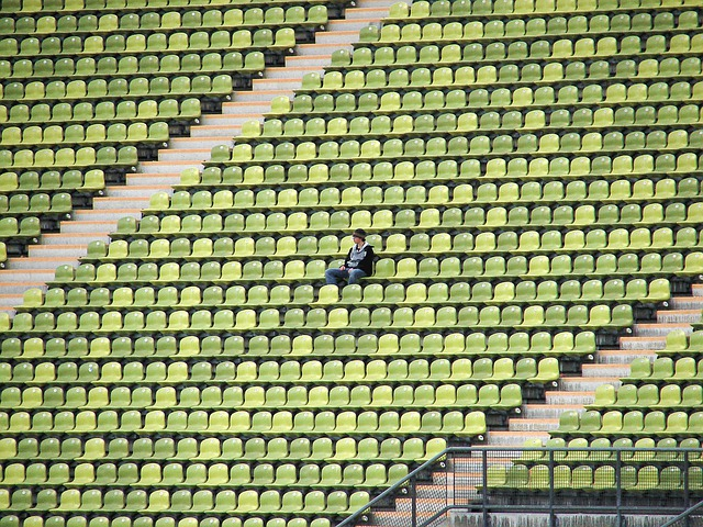 Stadium, Football, Viewers, Olympic Stadium, Lonely