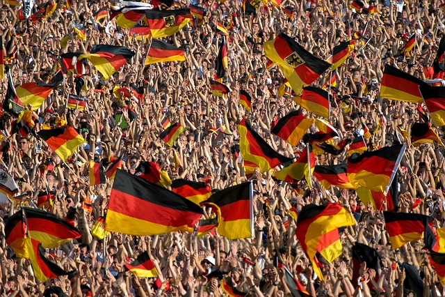 Crowd, Football, Germany, Flag, Nationalism