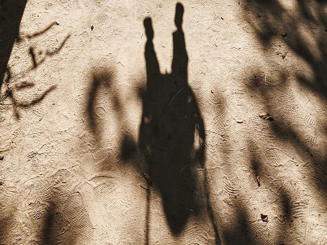 Footmarks, Footprints, Person, Sand, Shadow