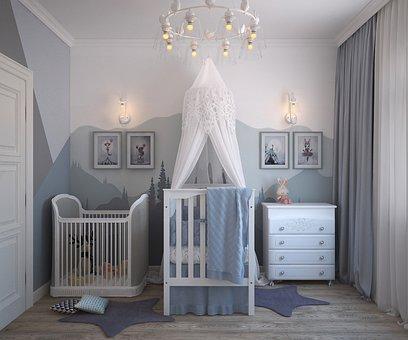 Children, Room Newborn, The Cradle, For Baby, Furniture