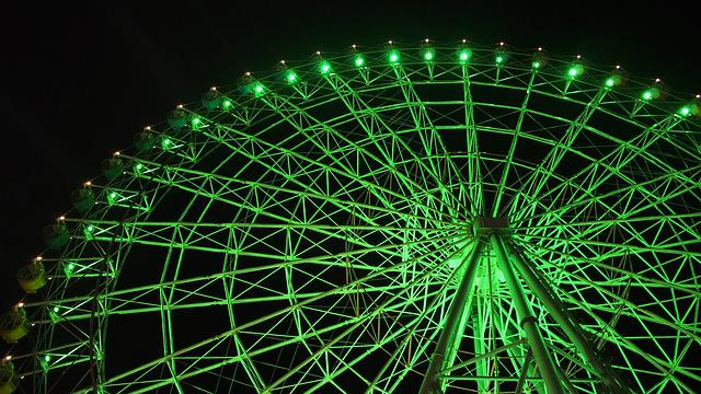 For Joy, Ferris Wheel, Green, Night View, Appointment