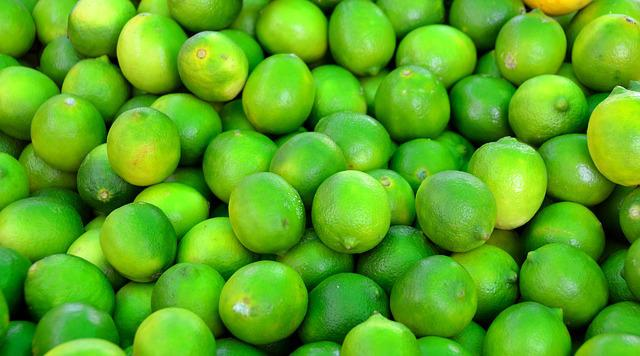 Green, Limes, Fruit, For Sale, Outdoor Market, Herbal