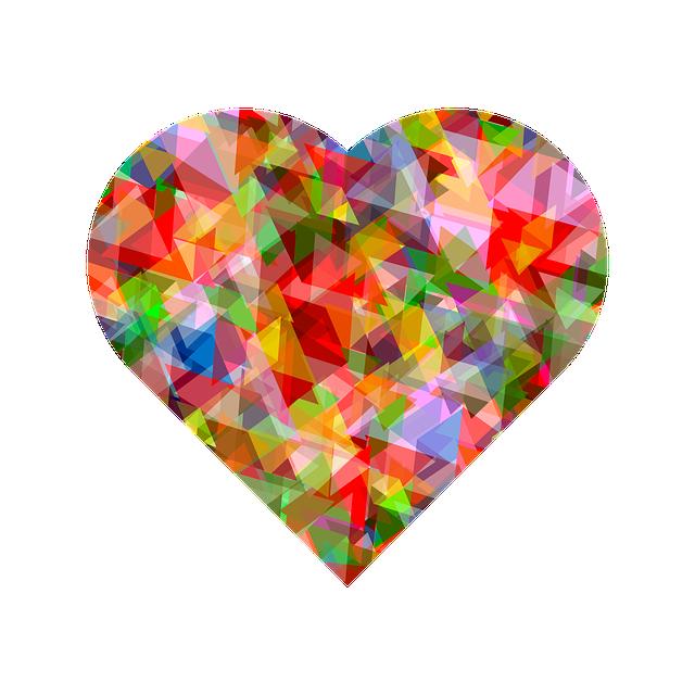 Heart, Love, Color, Multi Color, Design, For Web