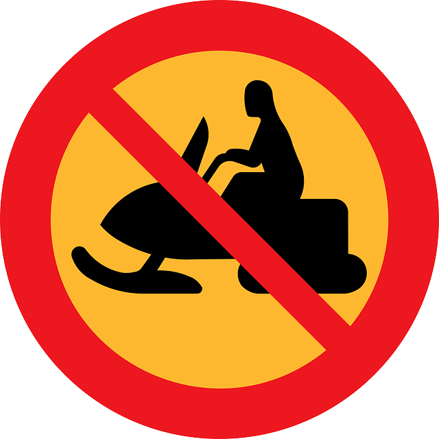 Snowmobile, Prohibited, Forbidden, Not Allowed