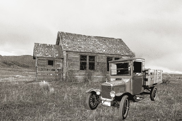 Old Farm House, Ford T, Truck, Ford, Usa, Automobile