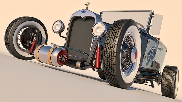 Ford, 1930, Phaeton, Hotrod, Rendering, Cinema 4d