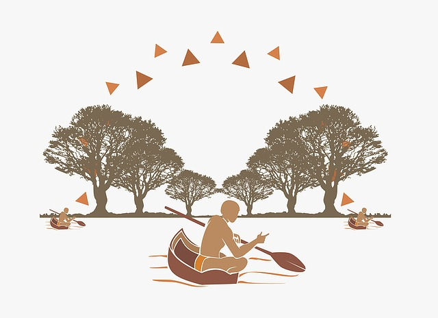 Indian, Forest, Tribe, Rio, Boat, Canoe
