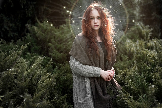 Free Photo Forest Elf Girl Female Nature Fantasy Fairytale
