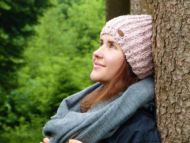 Woman, Girl, Forest, Trees, Luck, Relaxation, Silent
