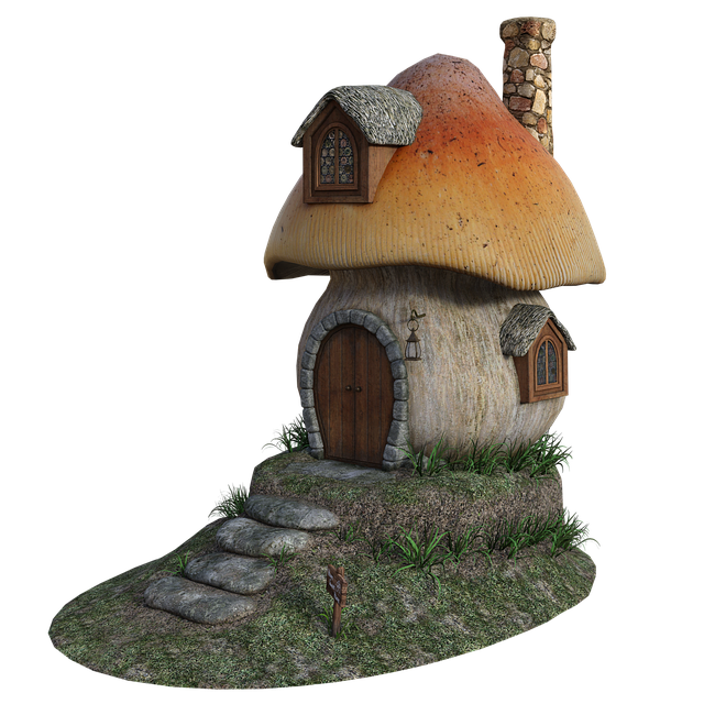 Mushroom, House, Fantasy, Cottage, Forest, Door, Fairy