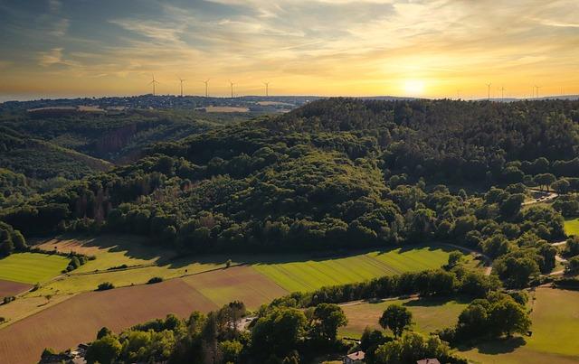 Panorama, Landscape, Forest, Sunset, Nature, Dusk, Mood