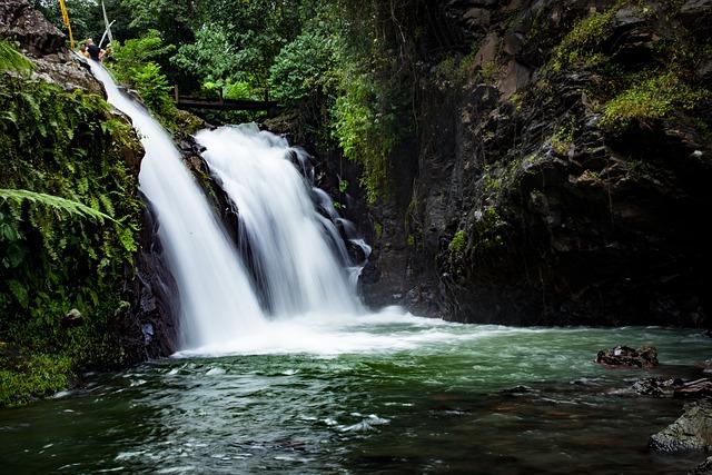 Waterfall, Nature, Forest, Tropics, Jungle