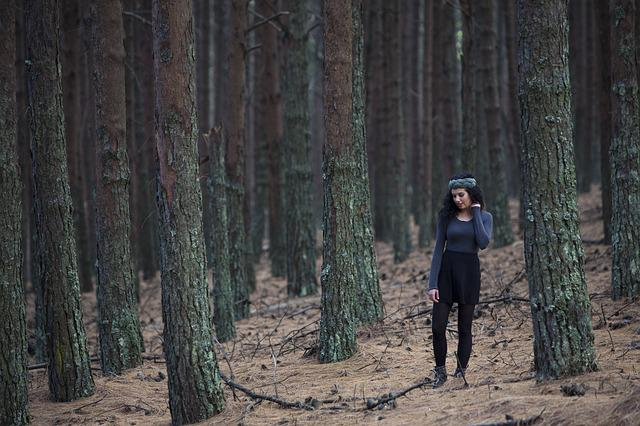 Forest, Model, Outdoors, Person, Trees, Twigs, Woman