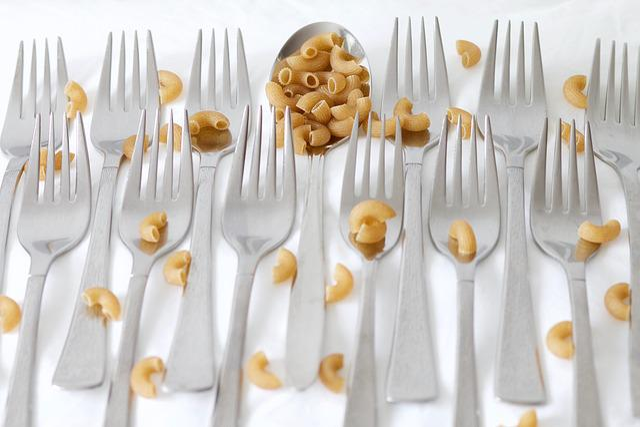 Spoon, Fork, Hörnli, Pasta, Cutlery