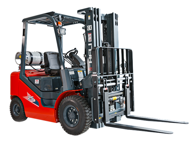 Forklift, Machinery, Machine, Construction, Warehouse