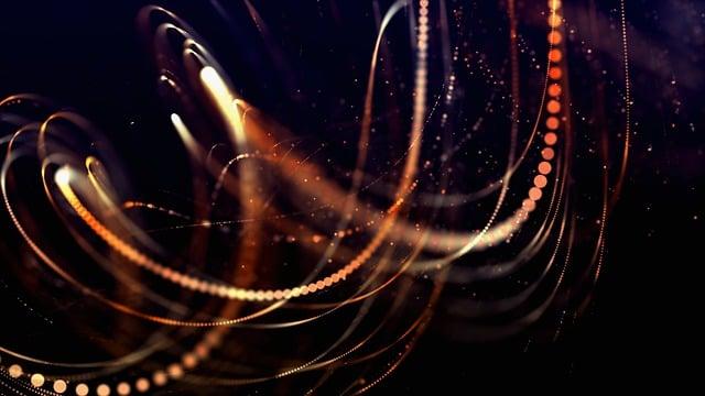 Abstract, Form, Lights, Lines, Dots, Dark, Orange