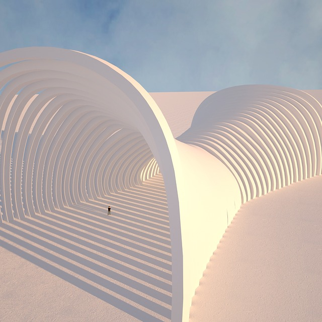 Sky, Futuristic, Architecture, Hipster, Form, 3d