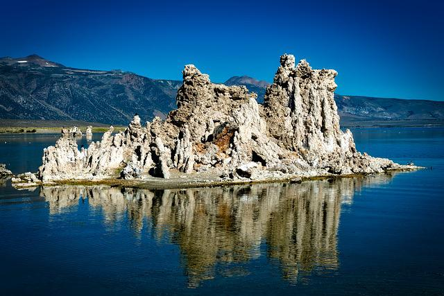 Mono Lake, California, Salt, Landscape, Formation