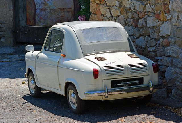 Automobile, Vintage, Vespa 400, Former, Car