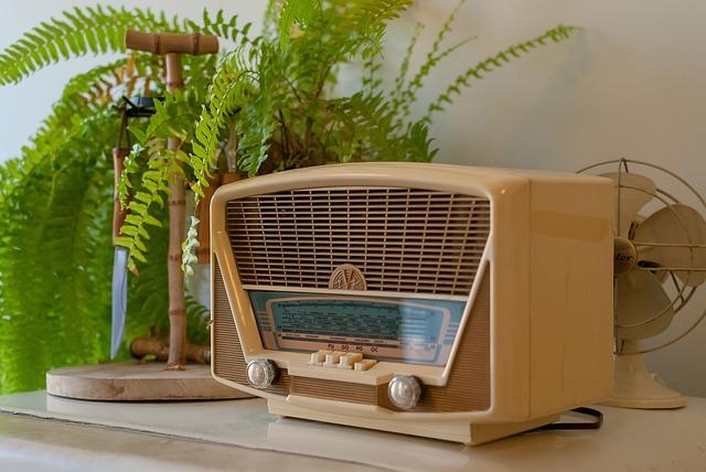 Post, Radio, Former, Furniture, Retro, Plant