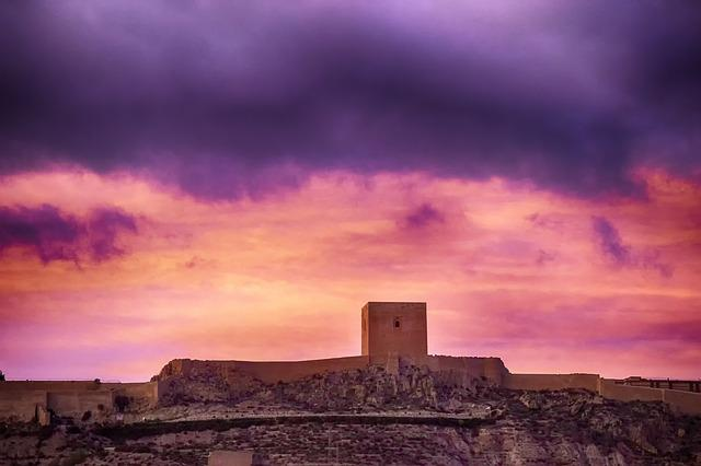 Sky, Castle, Clouds, Sunset, Architecture, Fortress