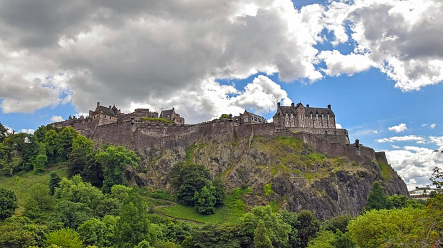 Scotland, England, Edinburgh, Castle, Fortress