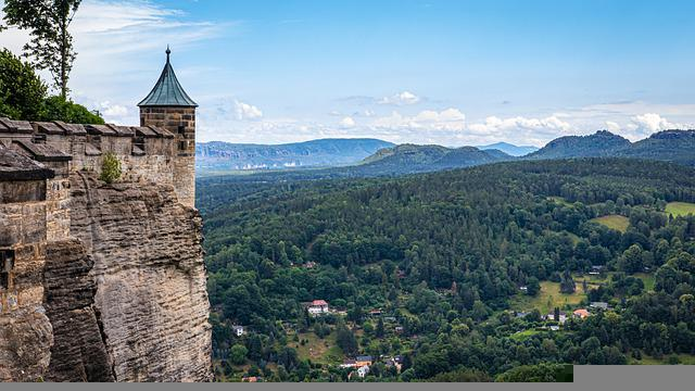 Königstein, Castle, Fortress, Architecture, Middle Ages