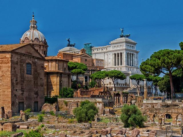 Forum Romanum, Rome, Italy, Ruins, Landmarks, Historic