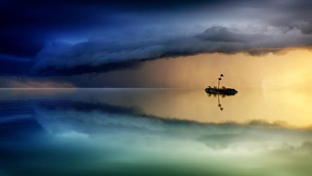 Sunset, Waters, Sky, Dawn, Water, Ocean, Forward